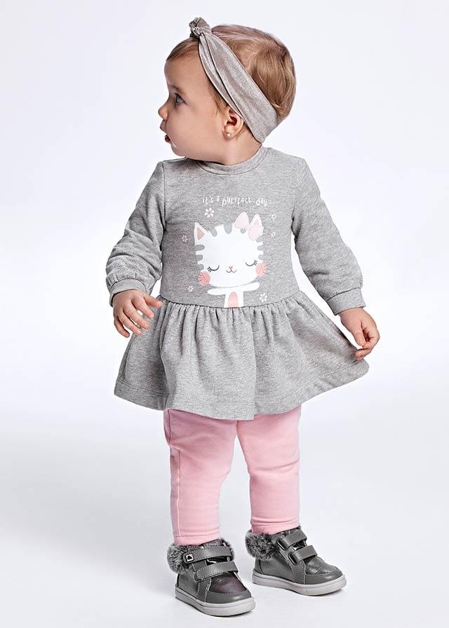 Vestido felpa ecofriends bebé niña